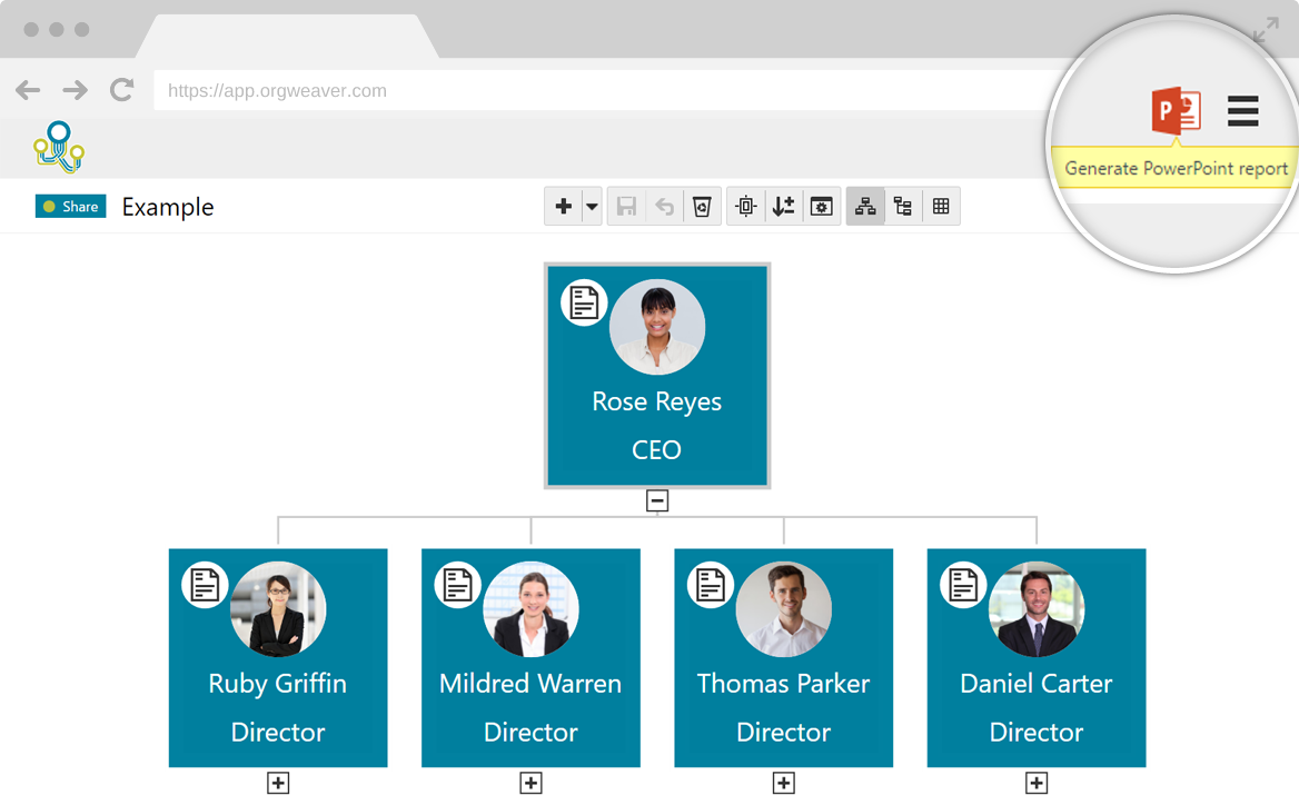 orgweaver org chart software make and share online org