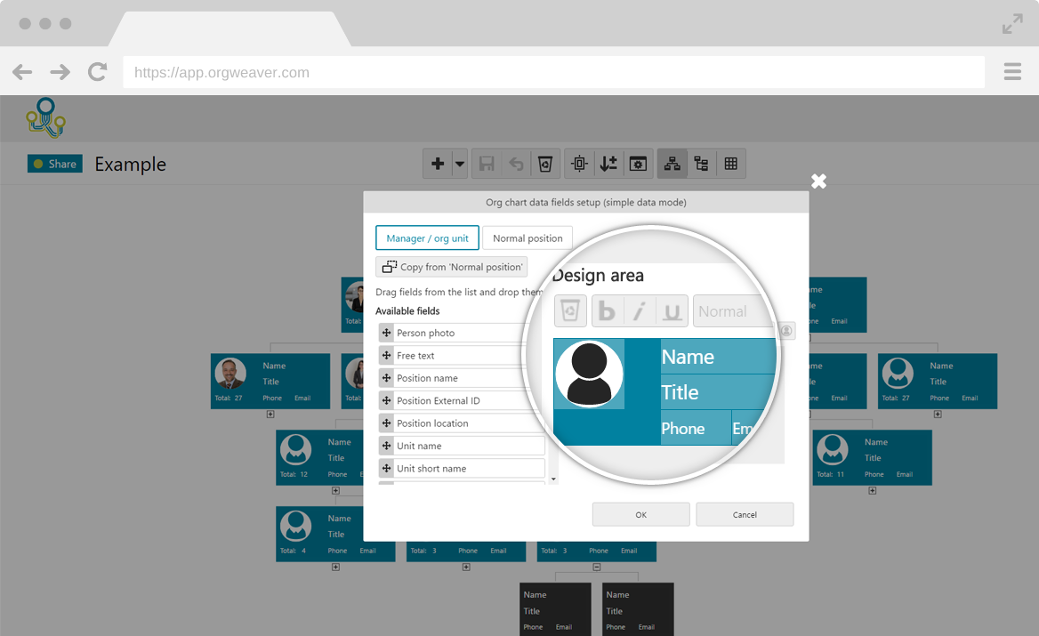 Org chart software create collaborate share online for Draw online share