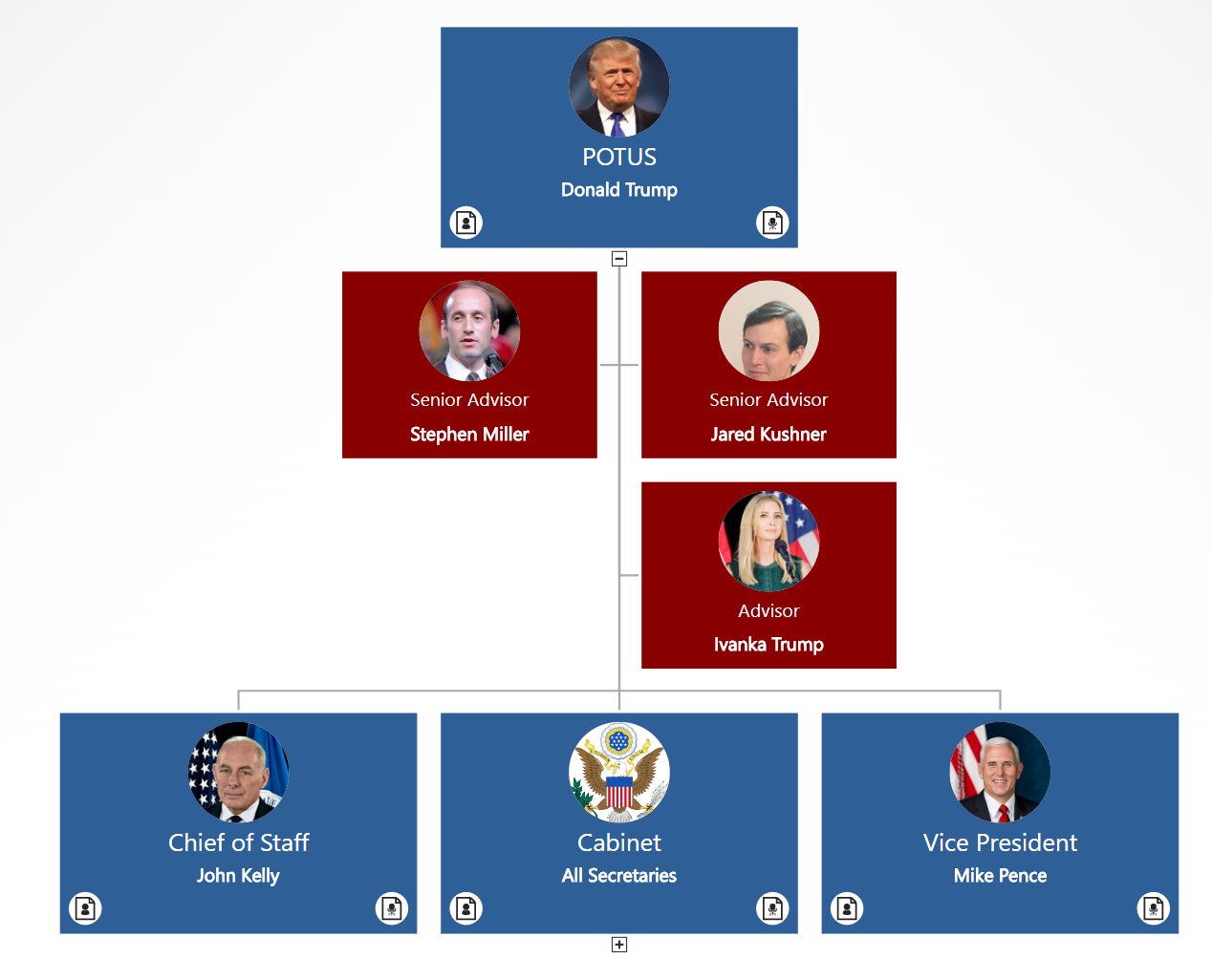 president donald trump u0026 39 s administration in an org chart